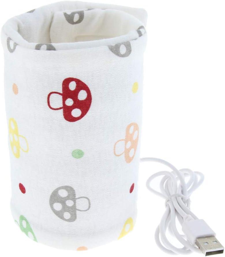 Baoblaze Chauffe-Biberon USB Portable Voyage Bouteille Lait Chauffage USB Outil /à Lait Chaud Intelligent Couverture dIsolation C/œur