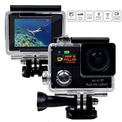 LegazoneSports Action Camera 12MP 1080P 2.0'' LCD 170° Wide Angle Lens Waterproof Diving HD Camcorder Car DVR Dual Screen Legazone