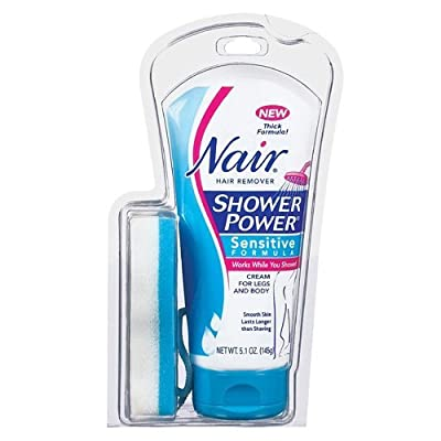 Nair Shower Power Hair Remover, Sensitive Formula, 5.1 Oz. (2 Pack)