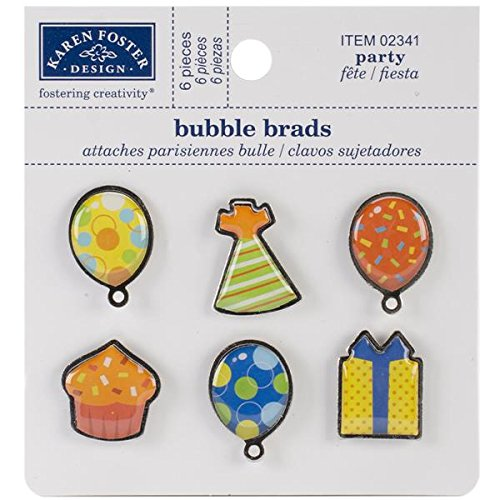 Amazon.com: KAREN FOSTER Design Scrapbooking and Craft Embellishment, Party Bubble Brads: Arts, Crafts & Sewing
