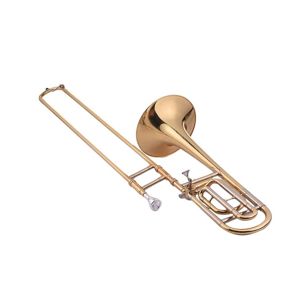 Festnight Trombone, Intermediate Bb Flat Tenor Slide Trombone with F Attachment Including Mouthpiece Carry Case by Festnight (Image #7)