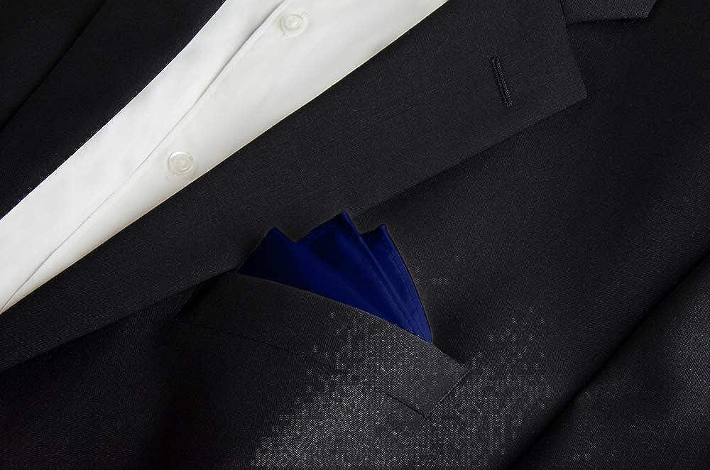Helido® Elegante Elegante pañuelo de bolsillo, cosido a mano, 30 x 30 cm