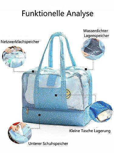 5 ALL Schwimmen Strandtasche Nasse und Trockene Trennung Unisex Wasserdichte Tasche Große Kapazität Badetasche Schwimmtasche Multifunktion Lagerung Tasche Grau I5My6bFQ2u