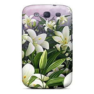 Fashion Tpu Case For Galaxy S3- Cute Flowers Defender Case Cover