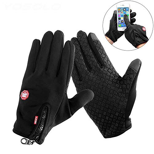 Motorcycle Gloves Riding Glove Ski Gloves for Winter Sport Windstopper Warm Touch Screen Full Finger Gloves L ()