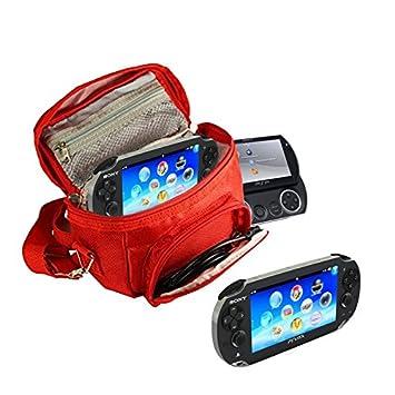 Orzly® - FUNDA para SONY PSP (GO/VITA/1000/2000/3000) - Funda para Consola, Juegos y Accessarios . Bolso incluye: Correa para el Hombro Ajustable + ...