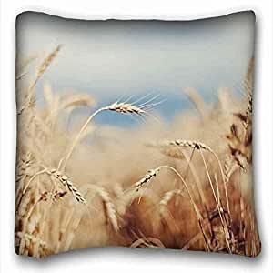 Soft Pillow Case Cover Nature Custom Cotton & Polyester Soft Rectangle Pillow Case Cover 16x16 inches (One Side) suitable for Twin-bed