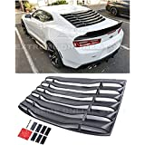 For 2016-Present Chevrolet Camaro ALL Models | EOS Track Performance ABS Plastic Primer Black Rear Window Louver Sun Shade Cover