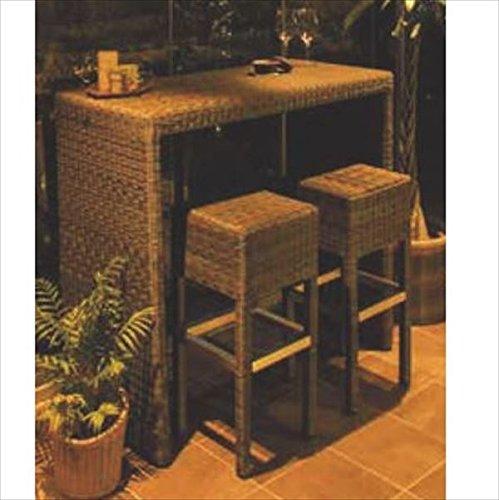 タカショー タリナ カウンターテーブルチェア3点セット 『ガーデンチェア ガーデンテーブル セット』 B075WRJHZ9