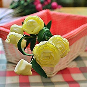 C&C Products 7 Heads Artificial Camellia Handmade Flowers Simulation Camellia Home Decoration 41