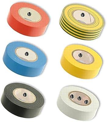 Multipack) Pike & Co. ® pvc cinta aislante color: negro [Pack de 6] W/min 3yr Garantía: Amazon.es: Bricolaje y herramientas