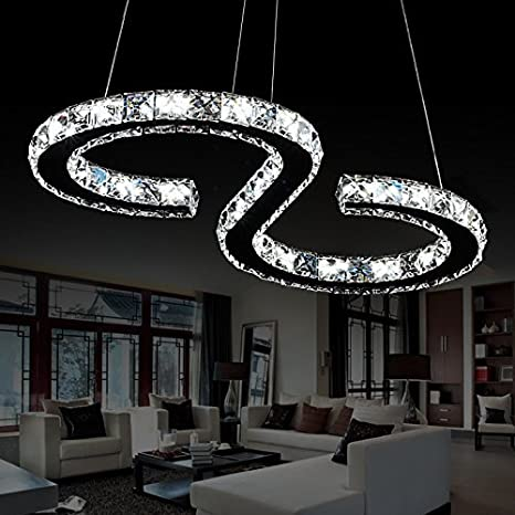944865bc0f7 ELINKUME S-type Luxury Modern Crystal LED Pendant