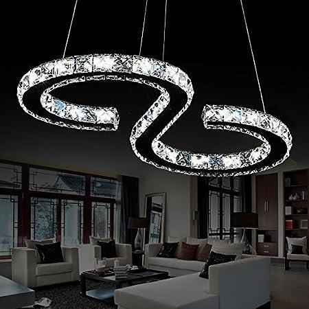 Elinkume s type luxury modern crystal led pendant modern home elinkume s type luxury modern crystal led pendant modern home ceiling light fixture mozeypictures Image collections