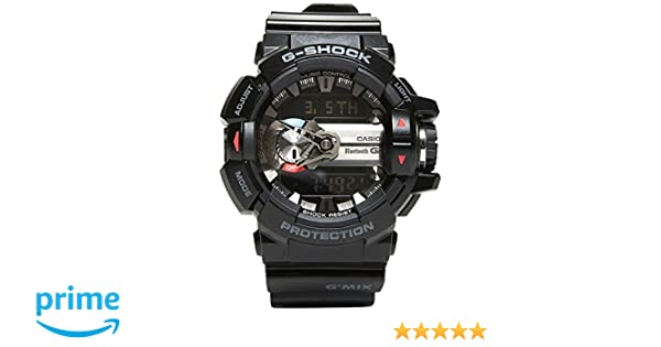 Amazon.com: Casio GBA-400-1AER Mens G-Shock Black Bluetooth Combi Watch: Watches
