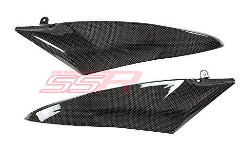 2006 2007 Yamaha YZF R6 Carbon Fiber Fibre Fuel Gas Tank Side Cover Body Panel Fairings -  Slingshot Racing
