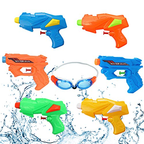 BEELU FASHION BOUTIQUE Water Guns for Kids Toys 6 Pack Squirt Guns Water Blaster Summer Swimming Pool Party Games