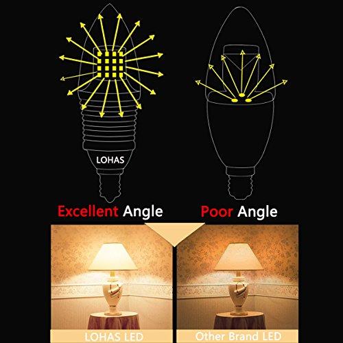 Lohas 174 9 Watt Led Light Bulbs Crystal White Glow 5000k