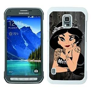 Samsung Galaxy S5 Active Screen Case ,Tattoo Princess Jasmine White Samsung Galaxy S5 Active Cover Fashion And Unique Designed Phone Case