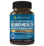 Brain Booster Supplement – Nootropic Supports Mental Clarity, Memory & Focus. Scientifically Formulated For Prolonged Performance - DMAE, Bacopa, Rhodiola Rosea Extract and more.