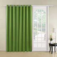 Deconovo Curtains Grommet Top Thermal Insulated Wide...