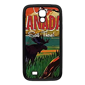 Canada 2 Black Silicon Rubber Case for Galaxy S4 by Nick Greenaway + FREE Crystal Clear Screen Protector