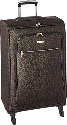 Calvin Klein Unisex CK-620 Signature Softside 19'' Upright Suitcase Brown One Size by Calvin Klein