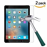 iPad 9.7'' (2017) / iPad Pro 9.7 / iPad Air 2 / iPad Air Screen Protector [2-Pack],TANTEK Tempered Glass Screen Protector- Apple Pencil Compatible / 2.5D Round Edge / Scratch Resistant