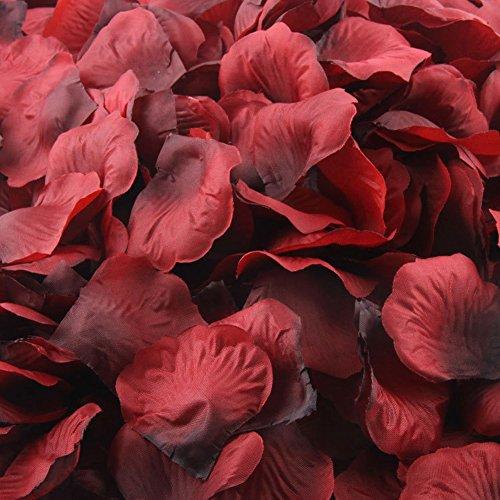 - LEFV™ 1000pcs Silk Rose Petals Artificial Flower Wedding Party Vase Decor Bridal Shower Favor Centerpieces Confetti Decorations (40 Colors for Choice)- Dark Red Coffee