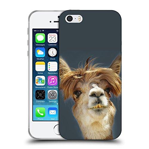 GoGoMobile Coque de Protection TPU Silicone Case pour // Q05560606 alpaga Arsenico // Apple iPhone 5 5S 5G SE