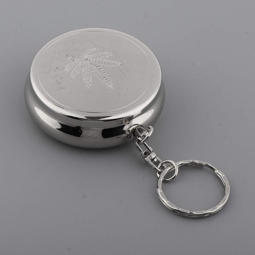 Edelstahl Aschenbecher Taschenaschenbecher Reiseaschenbecher /& Schlüsselring