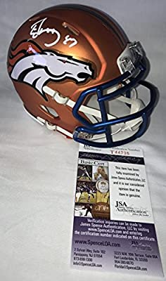 Ed McCaffrey Signed / Autographed Denver Broncos Blaze Alternate Mini Football Helmet - JSA Certified