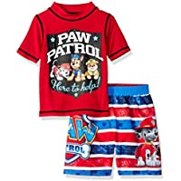 Nickelodeon Boys' Toddler Paw Patrol 2-Piece Swim Set