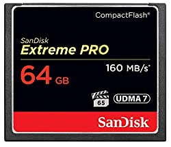 Sandisk Extreme Pro 64gb Compact Flash Memory Card Udma 7 Speed Up To 160mbs- Sdcfxps-064g-x46 (Label May Change)