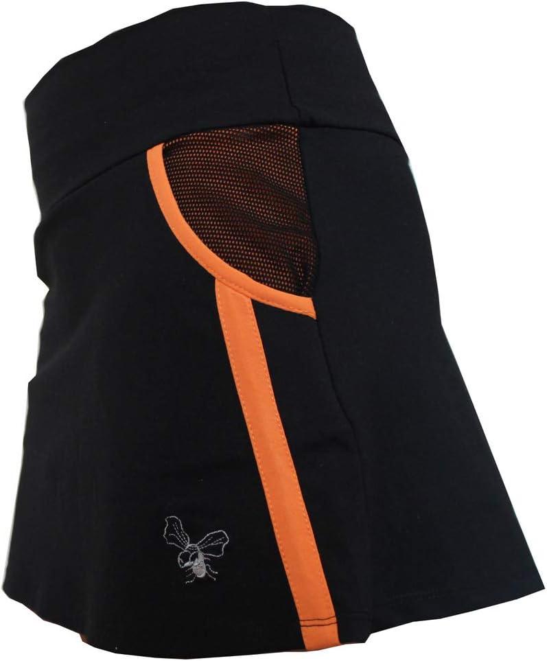 La Mouche Padel Falda Modelo Rejilla Negro y Naranja: Amazon.es ...