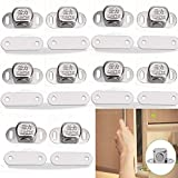 Whale GoGo 10 Pcs Small Magnetic Door Catches Stainless Steel Cupboard Cabinet Closet Furniture Catches