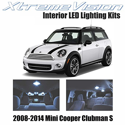 XtremeVision Mini Cooper Clubman S 2008-2014 (7 Pieces) Cool White Premium Interior LED Kit Package + Installation - 2008 Mini Clubman