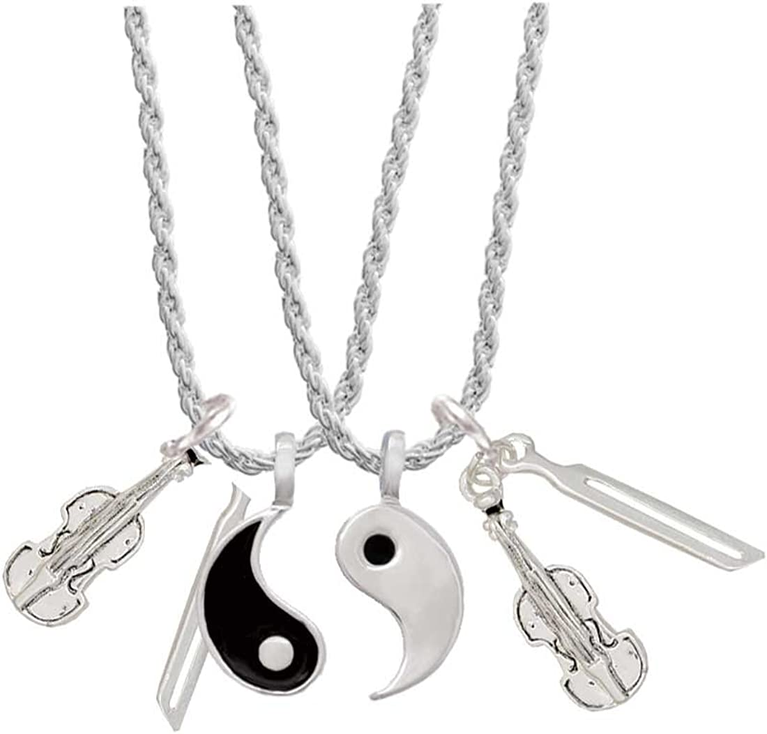 Vintage Lapel Pins Tie tack Set of 3 New in Original Box Peace Yin Yang Heart