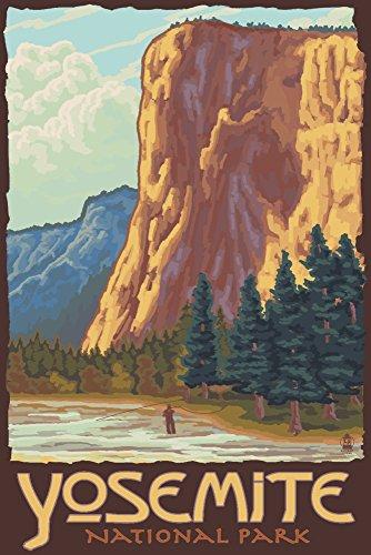 Yosemite National Park, California - El Capitan (12x18 Art Print, Wall Decor Travel Poster)