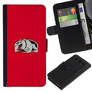 // PHONE CASE GIFT // Moda Estuche Funda de Cuero Billetera Tarjeta de crédito dinero bolsa Cubierta de proteccion Caso Samsung Galaxy S3 III I9300 / RED BULLDOG /