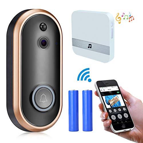 [해외]Wireless Video Doorbell Camera1080P HD WiFi Smart Video Door Phone IntercomRing ChimeTwo-way CallNight Vision (white) / Wireless Video Doorbell Camera,1080P HD WiFi Smart Video Door Phone IntercomRing Chime,Two-way Call,Night Visio...