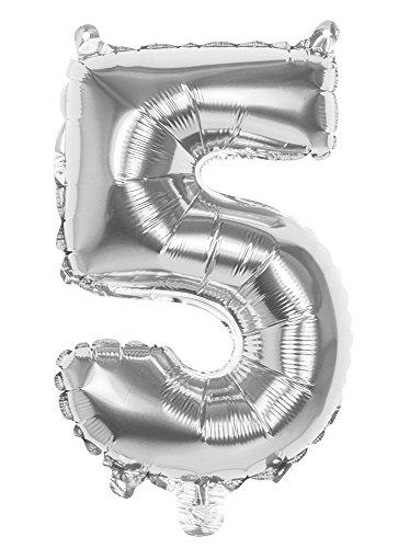 Joyeux Numéro 5 nbsp;Grande l'hélium Foil Style 4 Nice 86 Cadeaux Argent Fête Anniversaire Géant Ballons G4GADGET nbsp;cm Pouce Ux8ORwFq