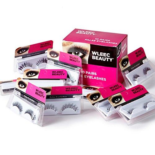 Wleec Beauty 10 Pairs False Eyelashes,