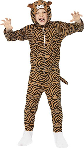 Tiger Jumpsuit Costumes (Medium Children's All In One Tiger Costume)