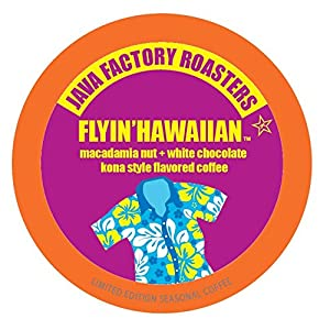 Java Factory Single-Cup Coffee for Keurig K-Cup Brewers, Flyin' Hawaiian, 40 Count