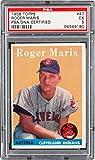 Indians Roger Maris Signed Card 1958 Topps RC Rookie #47 Slabbed - PSA/DNA Certified - Baseball Slabbed Autographed Cards