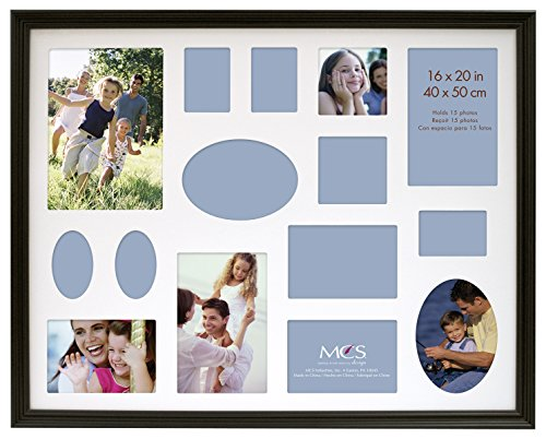 MCS 16x20 Inch Traditional Wood Collage Frame, Black (53626) (Collage Wall Poster)