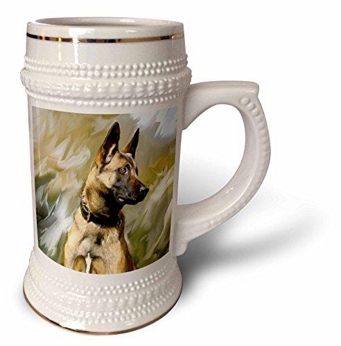 Dogs Belgian Malinois - Belgian Malinois - 22oz Stein Mug (stn_4385_1) (Malinois Belgian Mug)