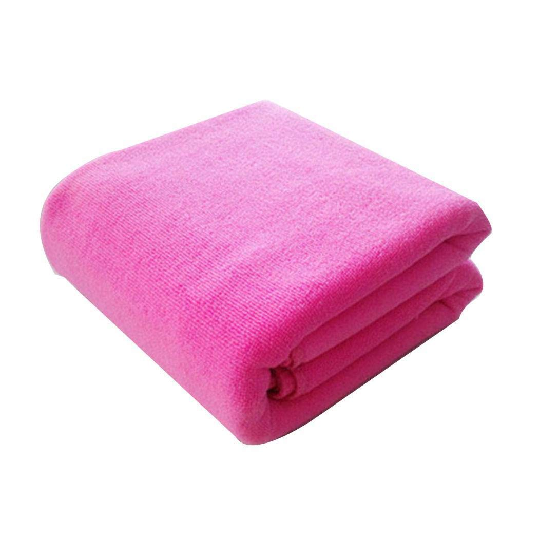 cokil 1 Pc Soft Solid Microfiber Super Absorbent Bath Towel Beach Activity Towel Bath Sheets 70 x 140cm