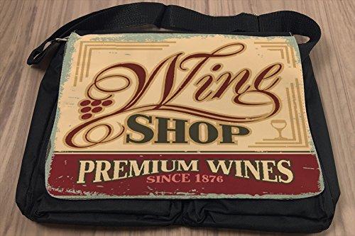 Umhänge Schulter Tasche Plakat Motiv Wein Premium bedruckt Küchenmotiv 1m6iM