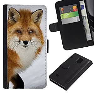 iBinBang / Flip Funda de Cuero Case Cover - Clever Animal Invierno Naturaleza - Samsung Galaxy Note 4 SM-N910